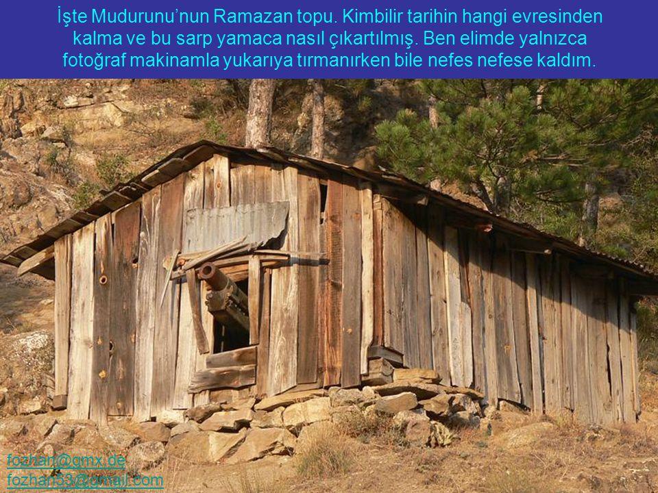 Eski Osmanlı Evleri yalnızca Safrabolu'da bulunmuyor... İşte Mudurunu'nun Ramazan topu. Kimbilir tarihin hangi evresinden kalma ve bu sarp yamaca nası