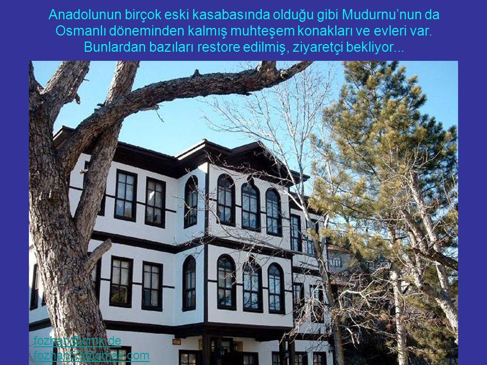 Eski Osmanlı Evleri yalnızca Safrabolu'da bulunmuyor... Anadolunun birçok eski kasabasında olduğu gibi Mudurnu'nun da Osmanlı döneminden kalmış muhteş