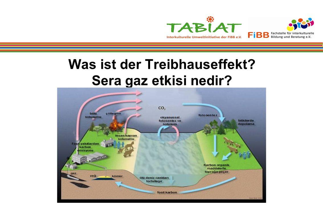 Was ist der Treibhauseffekt? Sera gaz etkisi nedir?