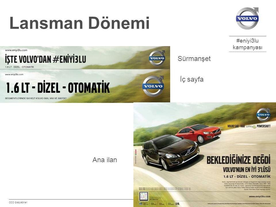 #eniyi3lu kampanyası Eylül 2012 ODD Gladyatörleri 14 Lansman Dönemi Sürmanşet İç sayfa Ana ilan