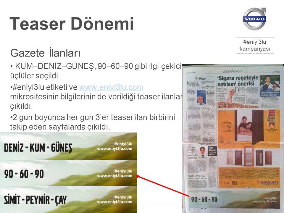 #eniyi3lu kampanyası Eylül 2012 ODD Gladyatörleri 8 Teaser Dönemi Gazete İlanları KUM–DENİZ–GÜNEŞ, 90–60–90 gibi ilgi çekici üçlüler seçildi.