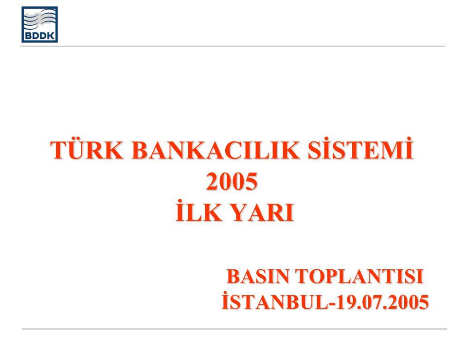 TÜRK BANKACILIK SİSTEMİ 2005 İLK YARI BASIN TOPLANTISI İSTANBUL-19.07.2005
