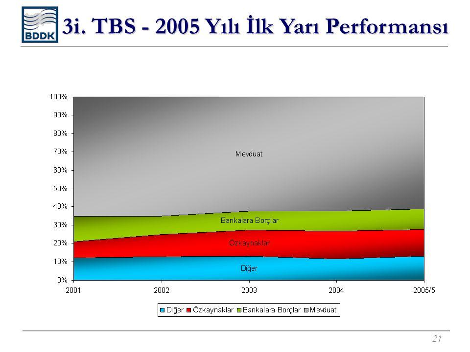 21 3i. TBS - 2005 Yılı İlk Yarı Performansı