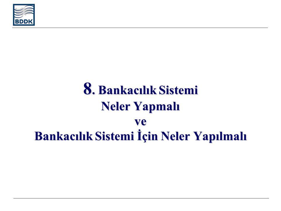 8. Bankacılık Sistemi Neler Yapmalı ve Bankacılık Sistemi İçin Neler Yapılmalı