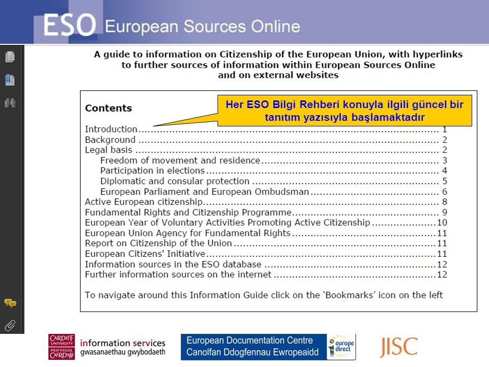 Her ESO Bilgi Rehberi konuyla ilgili güncel bir tanıtım yazısıyla başlamaktadır