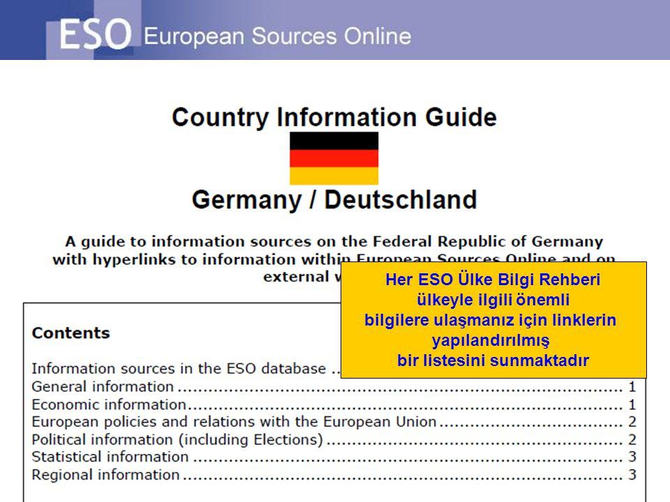 Her ESO Ülke Bilgi Rehberi ülkeyle ilgili önemli bilgilere ulaşmanız için linklerin yapılandırılmış bir listesini sunmaktadır