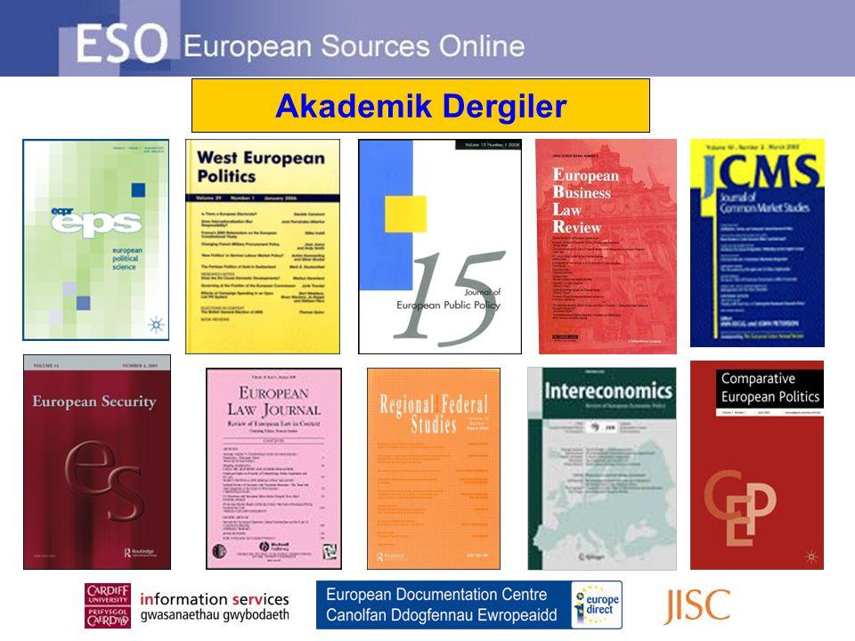 Akademik Dergiler