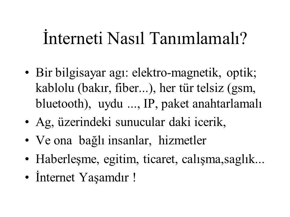 İnterneti Nasıl Tanımlamalı.