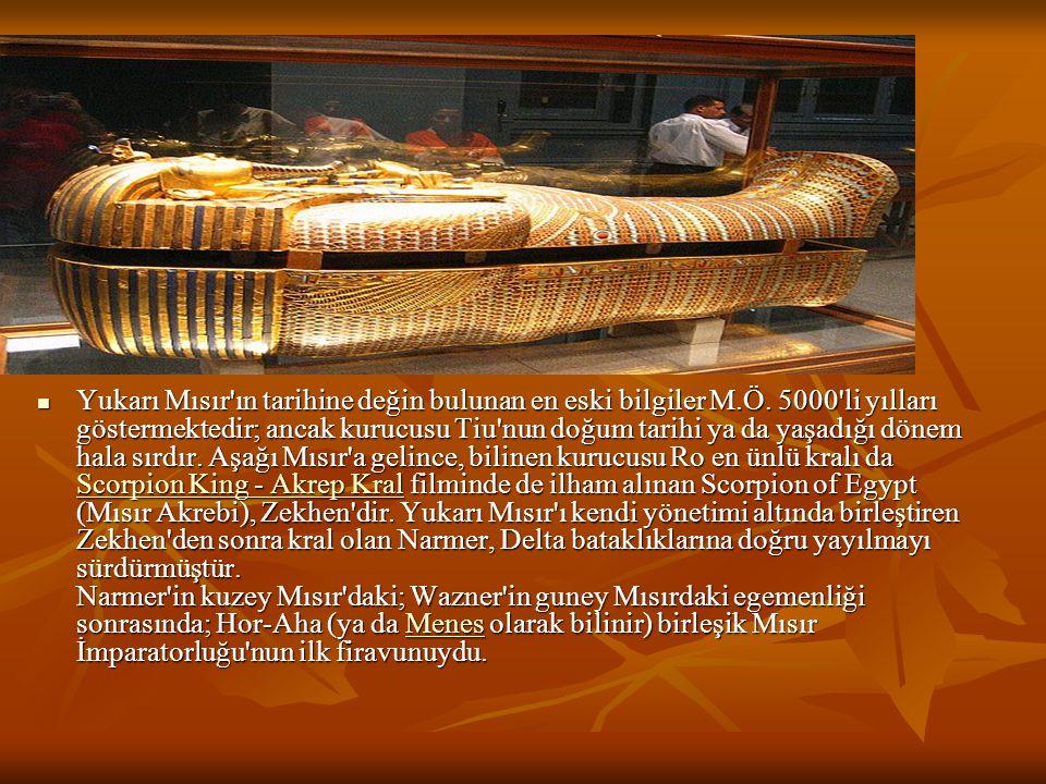 Mısır uygarlığının temelinde de Nil nehrinin bereketi vardır.