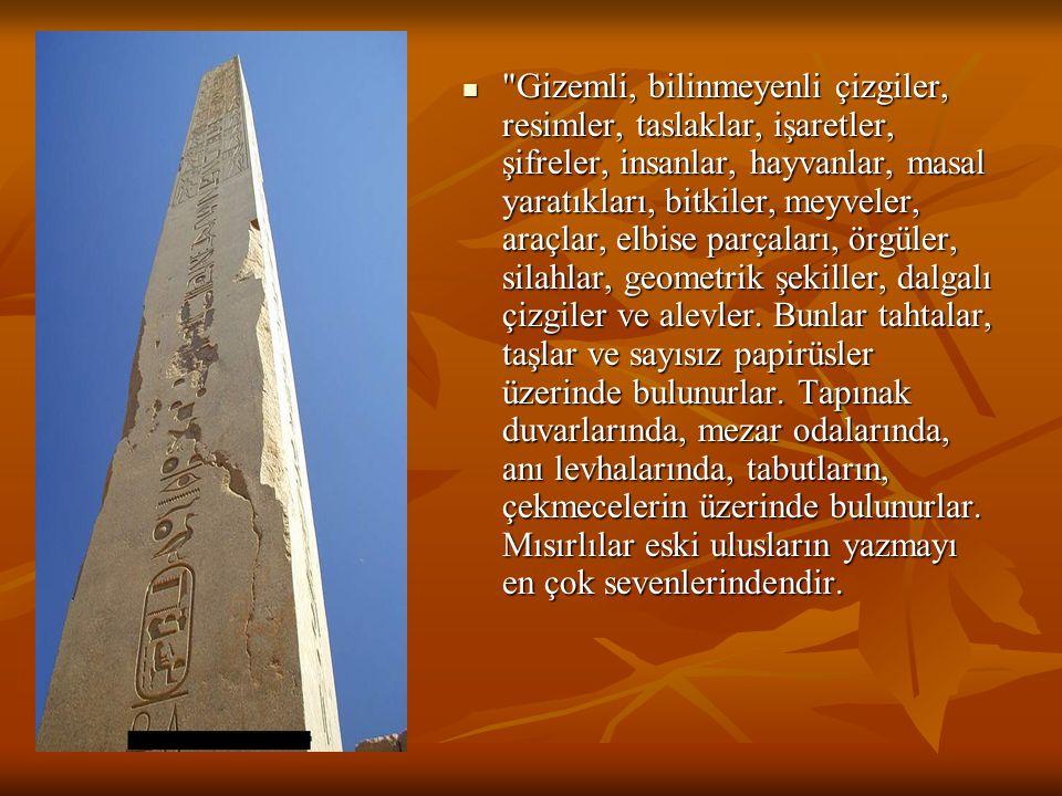 Yazıcılar,mürekkep ve fırça kullanarak papirus denen sazlardan yapılmış özel bir çeşit kağıda yazı yazarlardı.