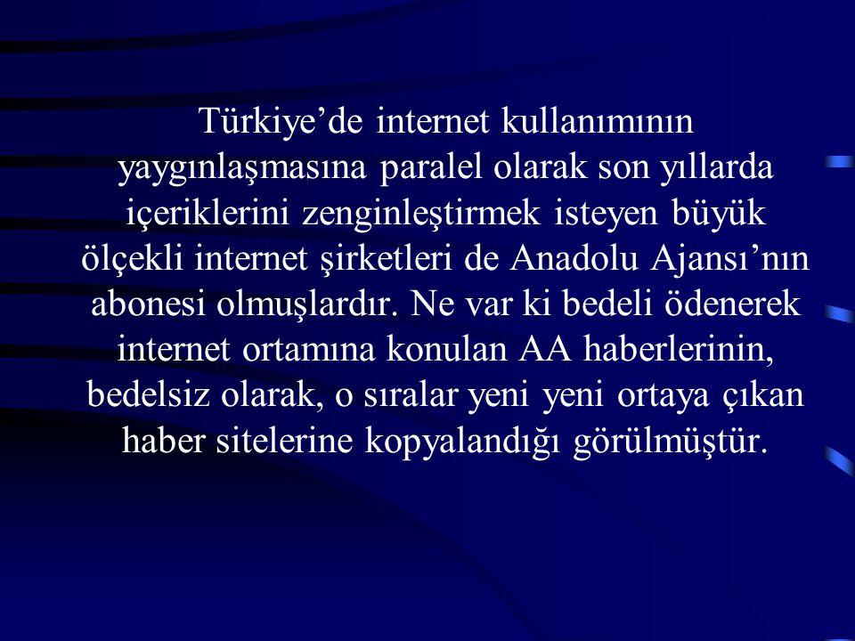 Türkiye'de internet kullanımının yaygınlaşmasına paralel olarak son yıllarda içeriklerini zenginleştirmek isteyen büyük ölçekli internet şirketleri de