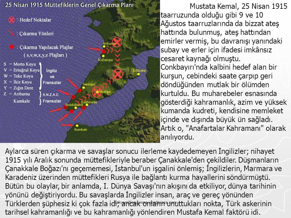 Tskvemillisavunma.wordpress.com Mustata Kemal, 25 Nisan 1915 taarruzunda olduğu gibi 9 ve 10 Ağustos taarruzlarında da bizzat ateş hattında bulunmuş,