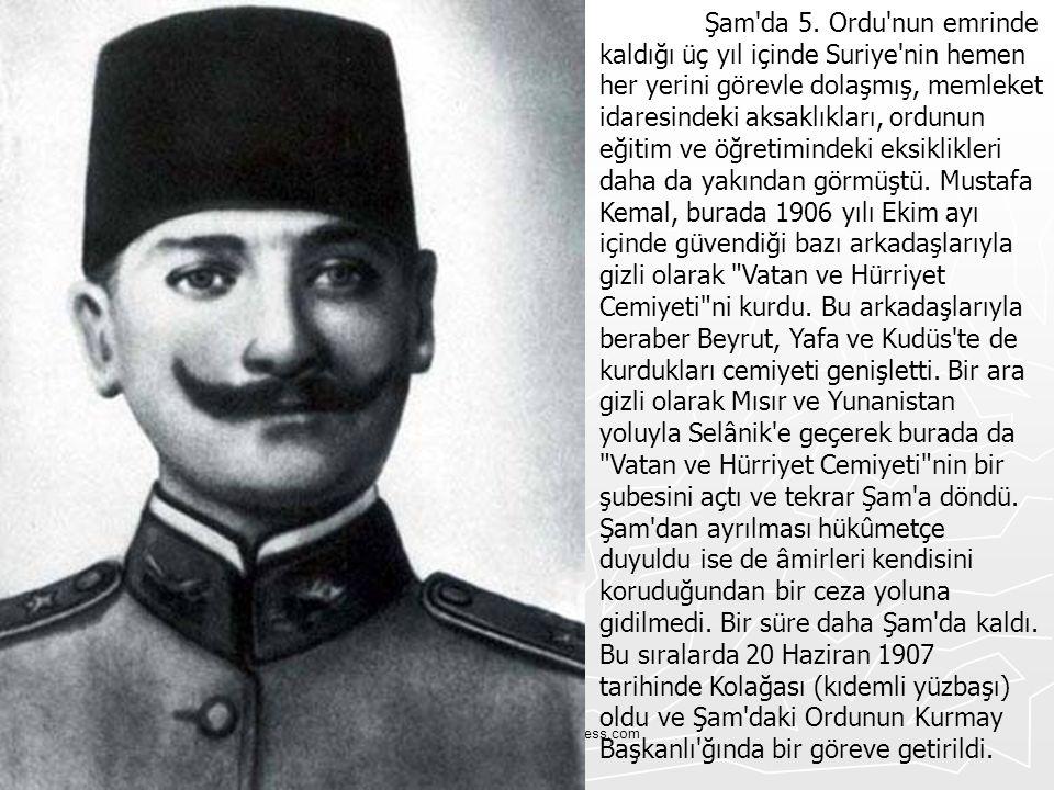 Tskvemillisavunma.wordpress.com Mustafa Kemal, 13 Ekim 1907 de merkezi Manastır da bulunan 3.