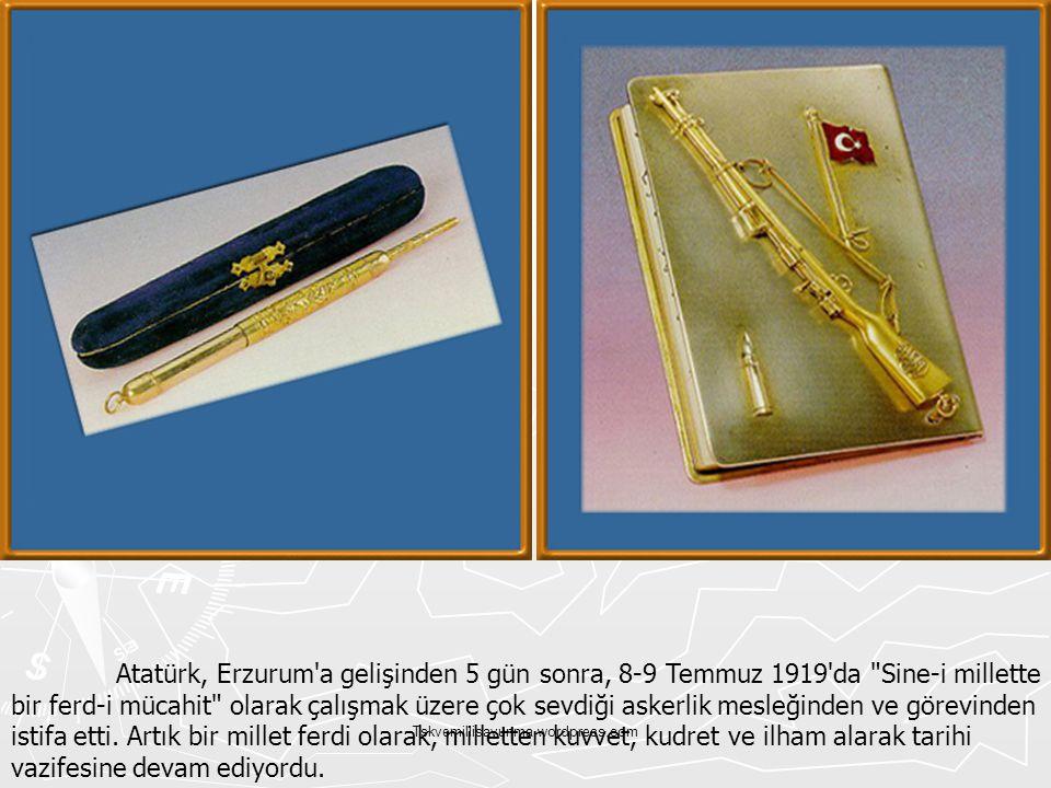 Tskvemillisavunma.wordpress.com Atatürk, Erzurum'a gelişinden 5 gün sonra, 8-9 Temmuz 1919'da