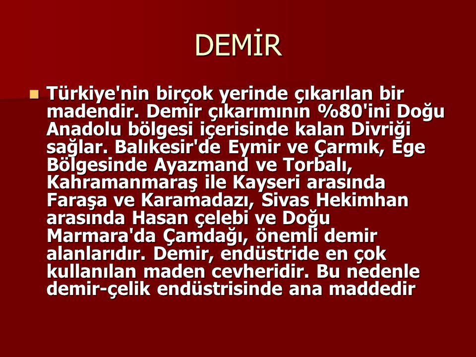Anadolu, madenciliğin eskilere dayandığı bir yerdir.