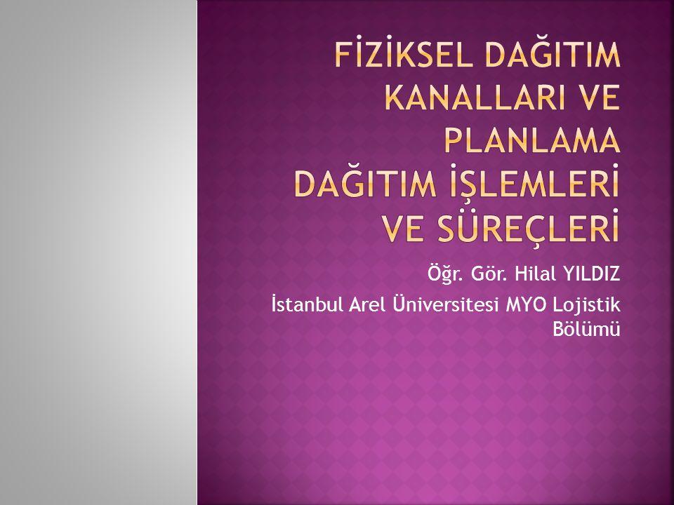 Öğr. Gör. Hilal YILDIZ İstanbul Arel Üniversitesi MYO Lojistik Bölümü
