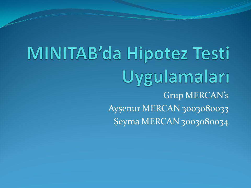 Grup MERCAN's Ayşenur MERCAN 3003080033 Şeyma MERCAN 3003080034