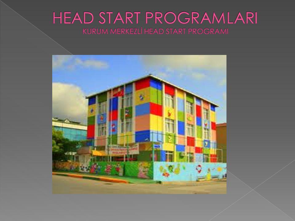 Kurum merkezli Head Start Programının genel amacı çocuğun sosyal,duygusal,zihinsel,fiziksel yönden kapasitesinin maksimum düzeye çıkarmaktadır.Bu amaca erişmek için de çeşitli uyarıcıların olduğu bir ortam hazırlanmış ve bu ortamda çocuğun deneyim kazanması ve deneyimler yoluyla ilerlemesi gözlenmiştir.