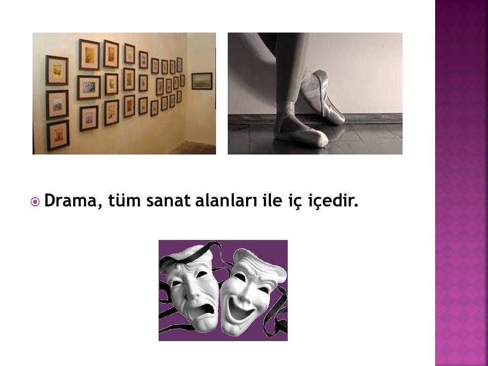  Drama, tüm sanat alanları ile iç içedir.