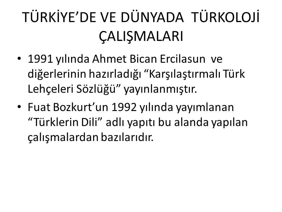 Türk Lehçeleri Arasında Kelime Eş Değerliği Türk lehçelerinin kendilerine mahsus kelime hazineleri vardır.