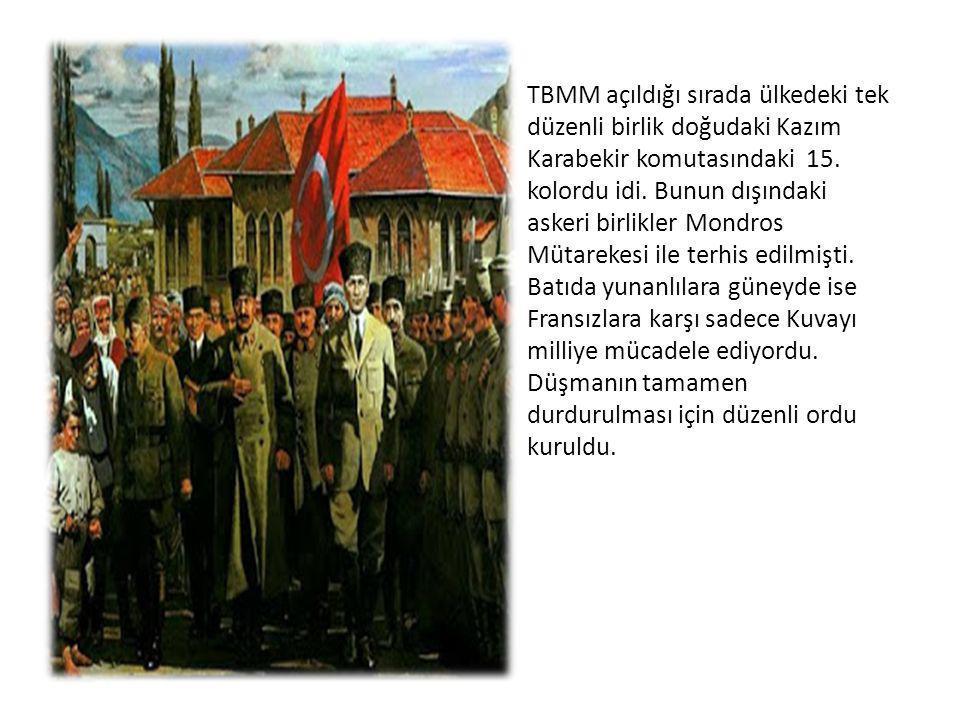 İstiklal Marşının yazılması: Ordumuzun ve milletimizin milli ve manevi duygularını ifade eden bir marşın yazılması düşünüldü.