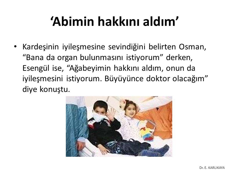 """'Abimin hakkını aldım' Kardeşinin iyileşmesine sevindiğini belirten Osman, """"Bana da organ bulunmasını istiyorum"""" derken, Esengül ise, """"Ağabeyimin hakk"""