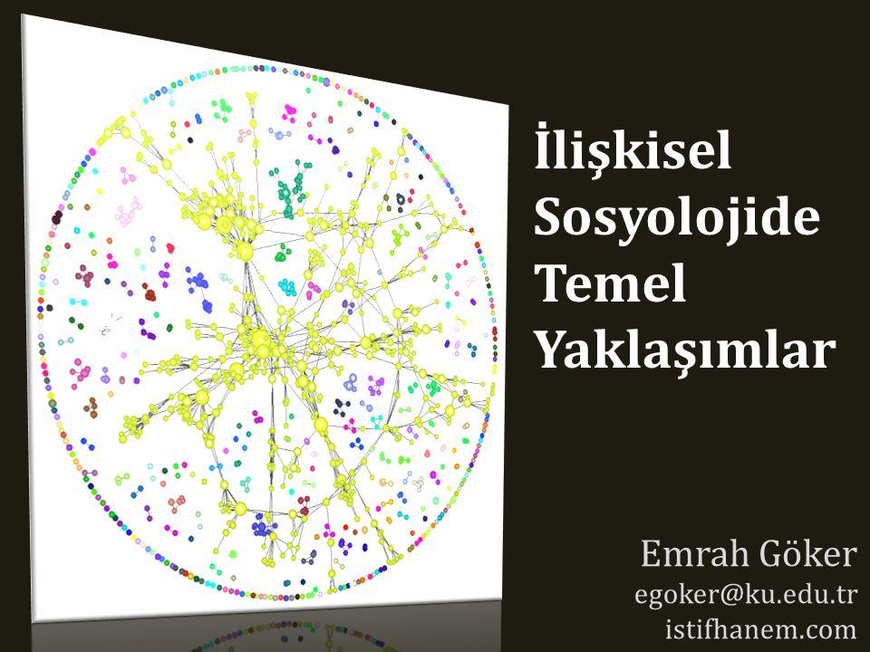 İlişkisel Sosyolojide Temel Yaklaşımlar Emrah Göker egoker@ku.edu.tr istifhanem.com