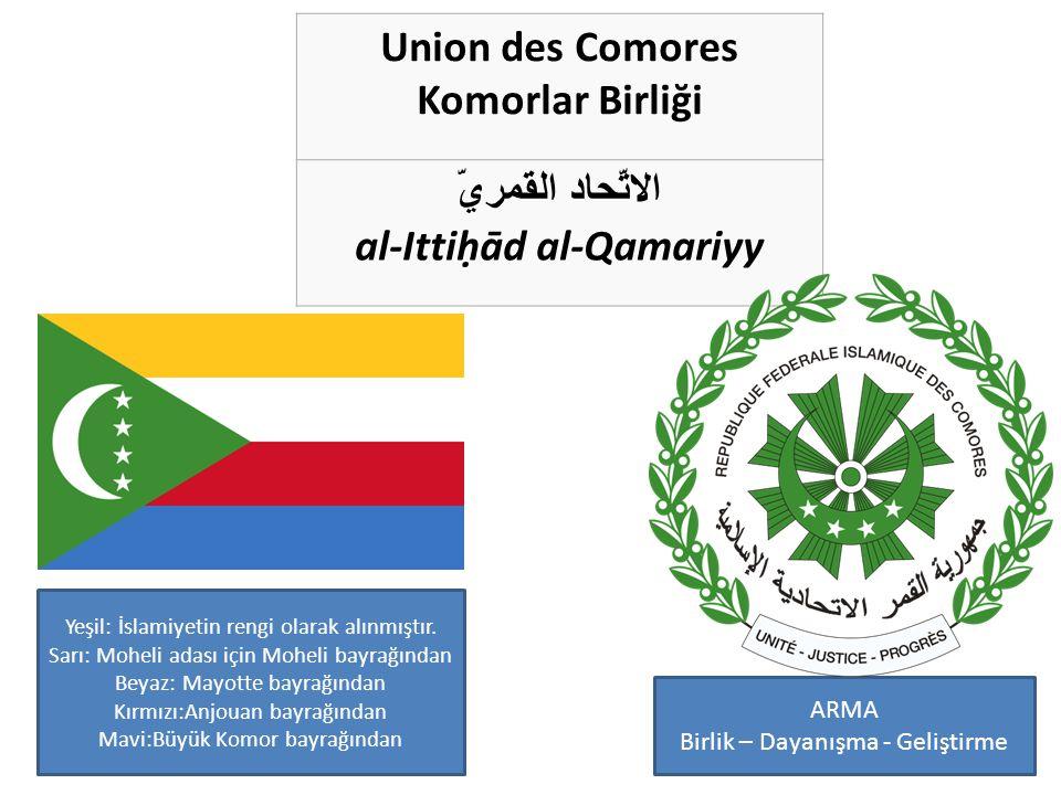 1996 – 2001 arası Komorlar Bayrağı Moheli adası bayrağı Mayotte adası bayrağı Anjouan adası bayrağı Büyük Komor adası bayrağı