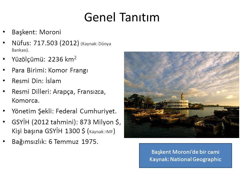 Genel Tanıtım Komorlar: 4 adanın ortak adı.