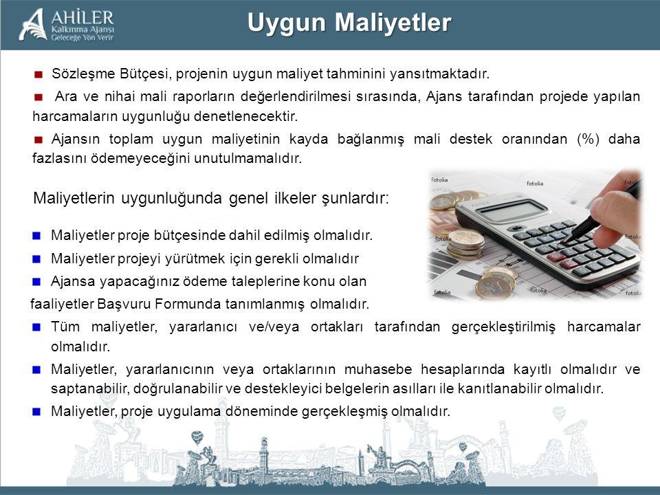 Sözleşme Bütçesi, projenin uygun maliyet tahminini yansıtmaktadır. Ara ve nihai mali raporların değerlendirilmesi sırasında, Ajans tarafından projede