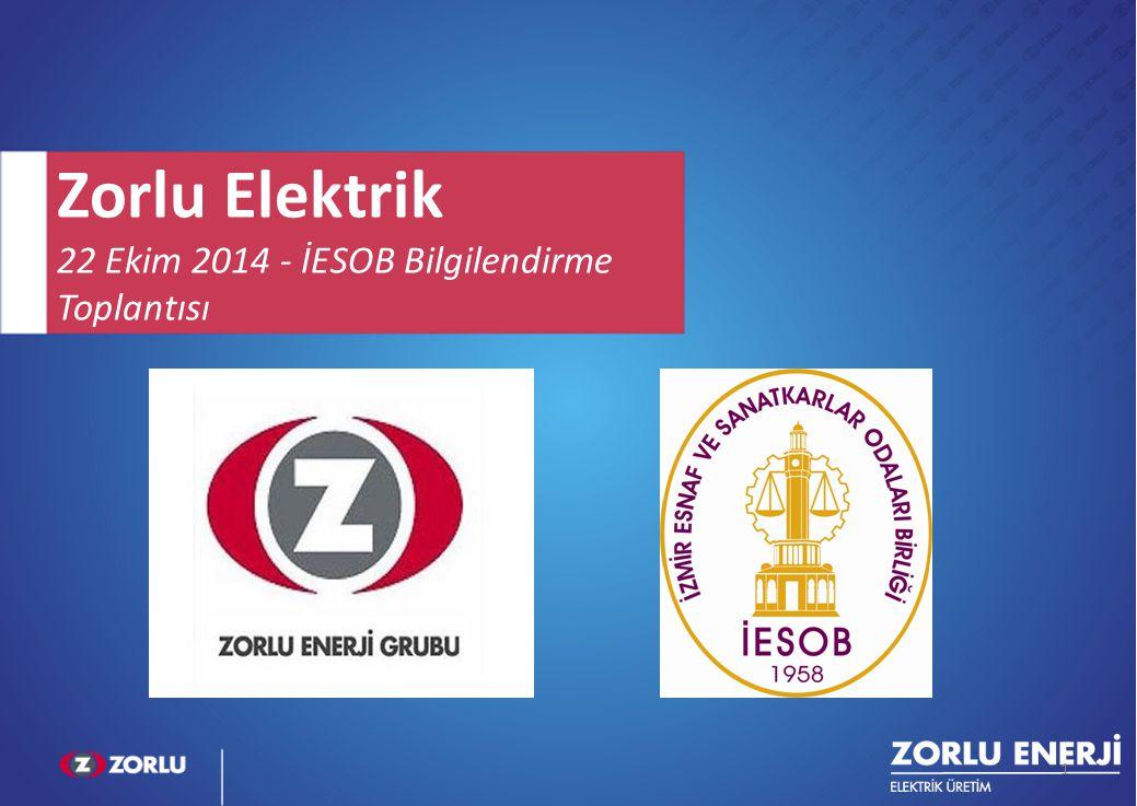 1 Zorlu Elektrik 22 Ekim 2014 - İESOB Bilgilendirme Toplantısı 1