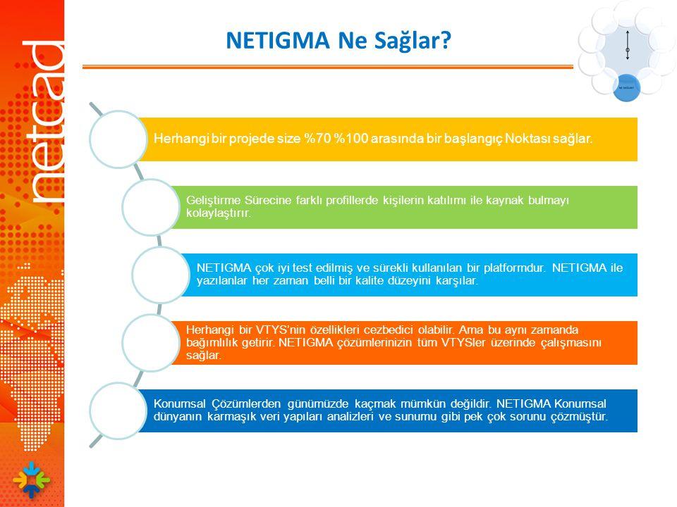 NETIGMA Ne Sağlar. Herhangi bir projede size %70 %100 arasında bir başlangıç Noktası sağlar.