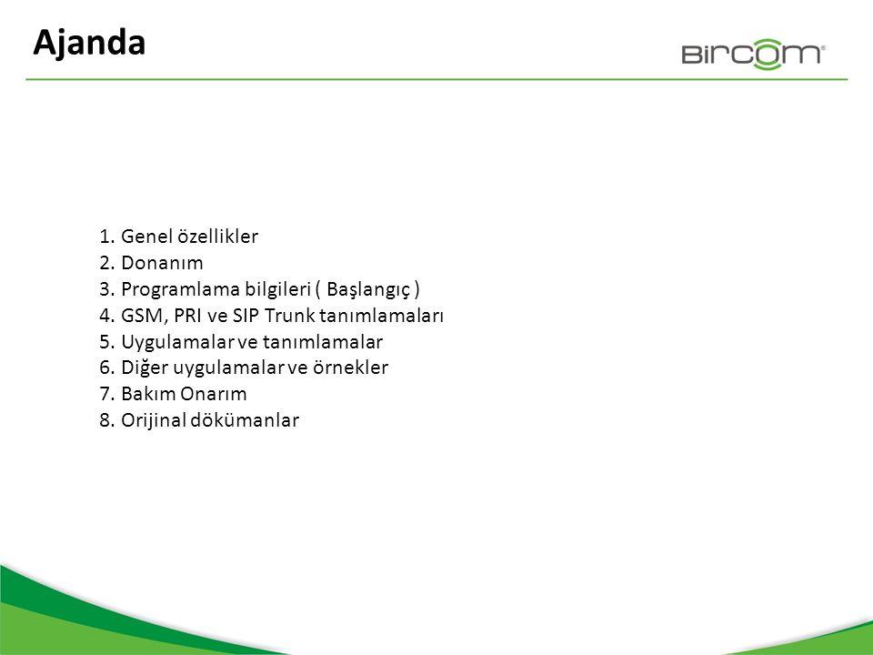 5.Sesli Karşılama / DISA IVR/ örnek uygulama GSM 88 nolu modül DISA Bircom ile ilişkilendirilir.