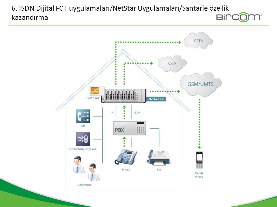 6. ISDN Dijital FCT uygulamaları/NetStar Uygulamaları/Santarle özellik kazandırma