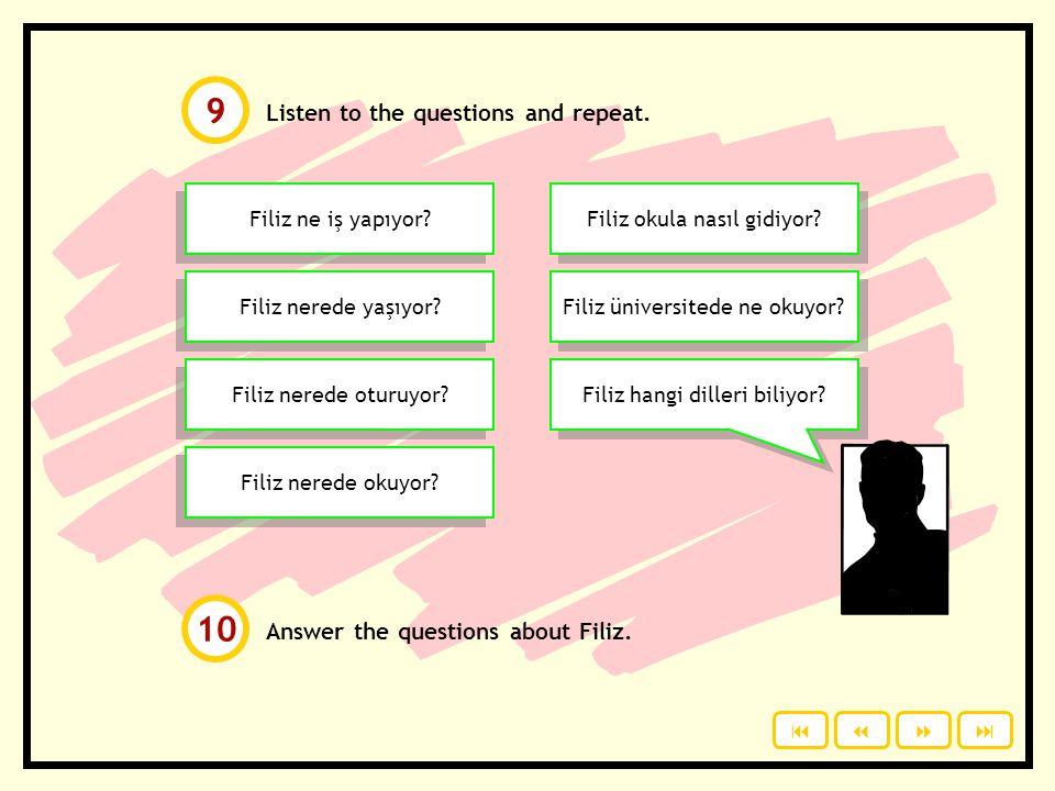 Click to check your answers. Which sentence is true? O dans ediyor. O dans etiyor. O yemek yeyor. O yemek yiyor. O okula gitiyor. O okula gidiyor. O f