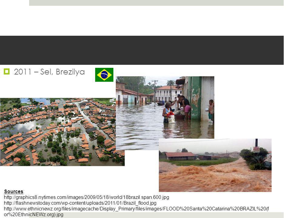  2011 – Sel, Brezilya Sources: http://graphics8.nytimes.com/images/2009/05/18/world/18brazil.span.600.jpg http://flashnewstoday.com/wp-content/upload
