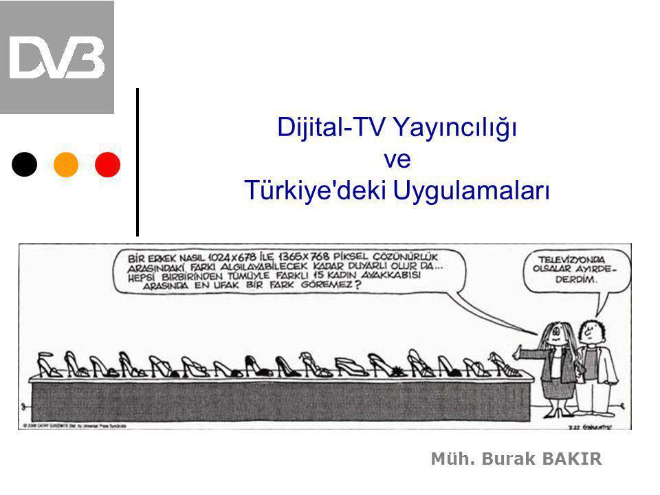 Dijital-TV Yayıncılığı ve Türkiye'deki Uygulamaları Müh. Burak BAKIR