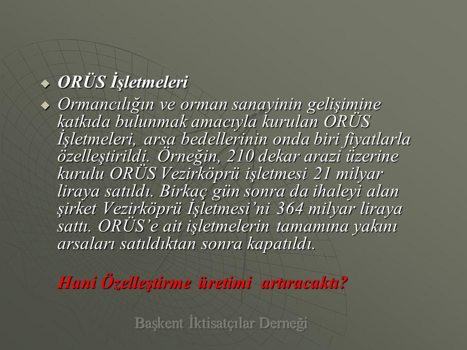 ÖÖÖÖzelleştirildiği 2002 yılına kadar Türkiye'nin en fazla Kurumlar Vergisi ödeyen 10 firması arasında yer alan 2001 yılında en çok kurumlar vergisi ödeyen mükellefler arasında 6.