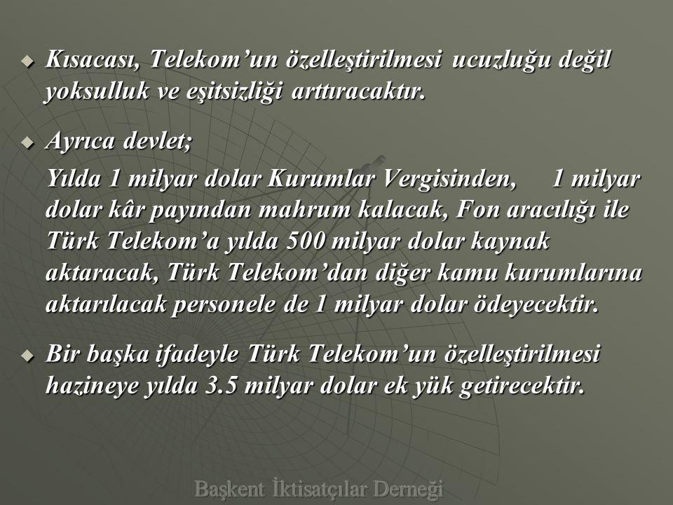 VE BÜYÜK SATIŞ  Gazeteler Türk Telekom Özelleştirmesini, Rekor Fiyat , Türkiye Zor Engeli Aştı , Özelleştirmede Rekor Büyüklük , En Büyük Özelleştirme başlıkları ile verdiler.