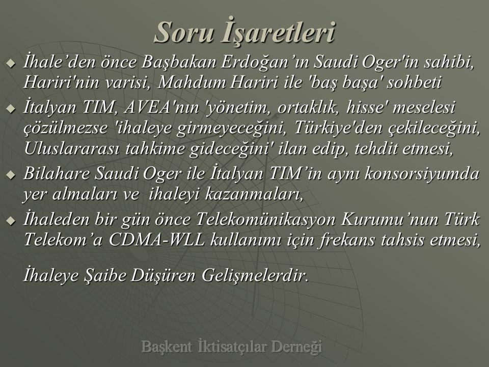 ÖZET OLARAK Türk Telekom'un Blok Satış Yöntemiyle Özelleştirilmesi KKKKamu çıkarına aykırıdır.