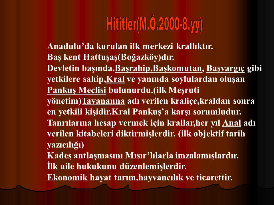 Anadolu,Asya ile Avrupa arasında bulunması, verimli toprakları ve elverişli iklimi nedeniyle pek çok göç ve istilaya uğramıştır.