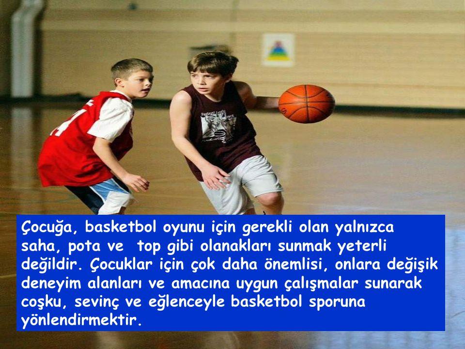 Çocukların basketbol eğitimi,büyüklerin basketbol eğitiminden tamamen farklıdır.