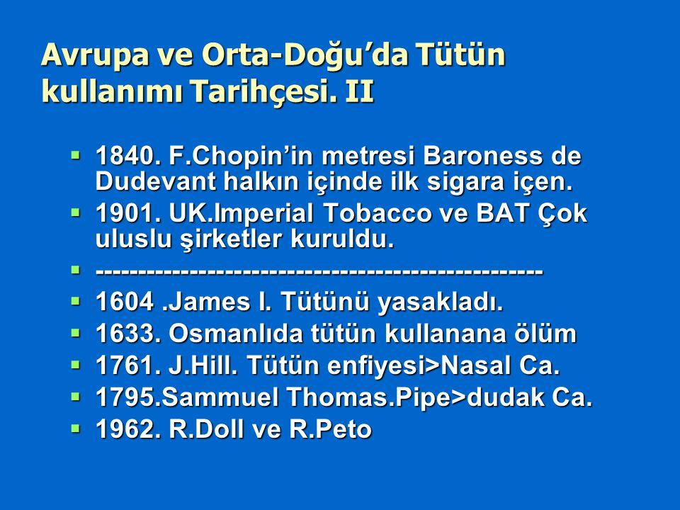 Avrupa ve Orta-Doğu'da Tütün kullanımı Tarihçesi.II  1840.