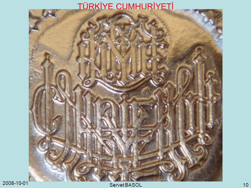 2008-10-01 Servet BASOL 10 TÜRKİYE CUMHURİYETİ
