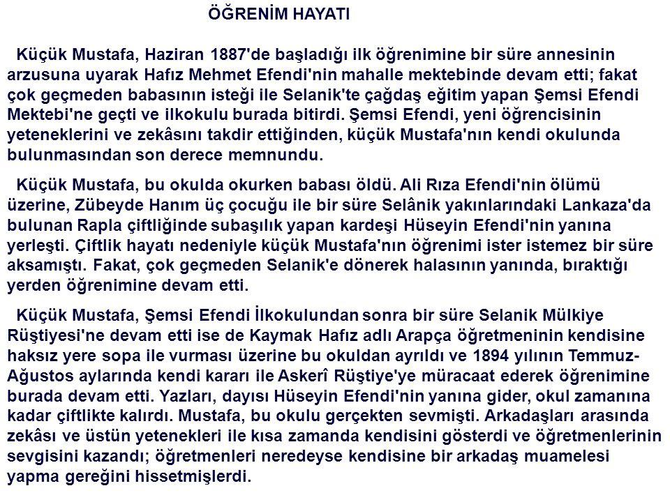 Atatürk'ün ilk öğretmeni Şemsi Efendi