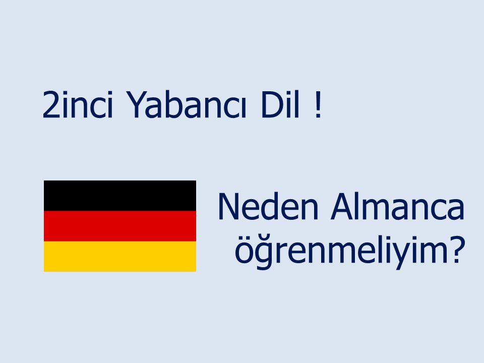 2inci Yabancı Dil ! Neden Almanca öğrenmeliyim?