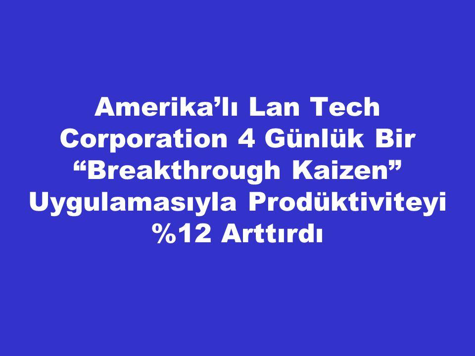 """Amerika'lı Lan Tech Corporation 4 Günlük Bir """"Breakthrough Kaizen"""" Uygulamasıyla Prodüktiviteyi %12 Arttırdı"""