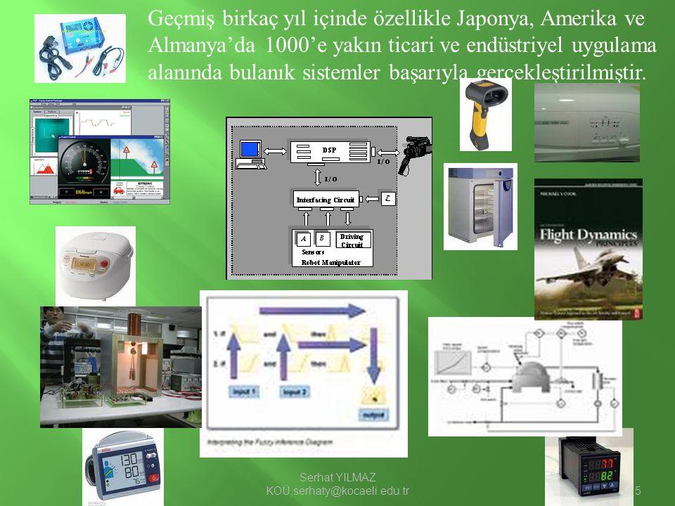 Serhat YILMAZ KOÜ,serhaty@kocaeli.edu.tr15 Geçmiş birkaç yıl içinde özellikle Japonya, Amerika ve Almanya'da 1000'e yakın ticari ve endüstriyel uygula