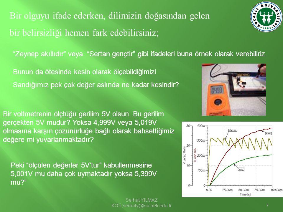 Serhat YILMAZ KOÜ,serhaty@kocaeli.edu.tr8 Makinelere bunu nasıl anlatabiliriz.