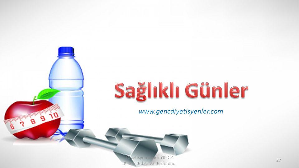 Diyetisyen Şenol YILDIZ Kinoa Bitkisi ve Beslenme 27 www.gencdiyetisyenler.com